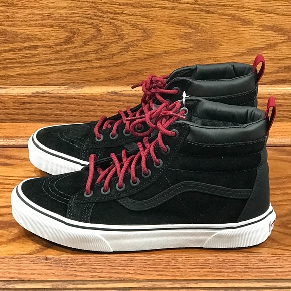 70dab5579f7e Vans Sk8 Hi MTE Black Beet Red Shoes Size Men 8.5
